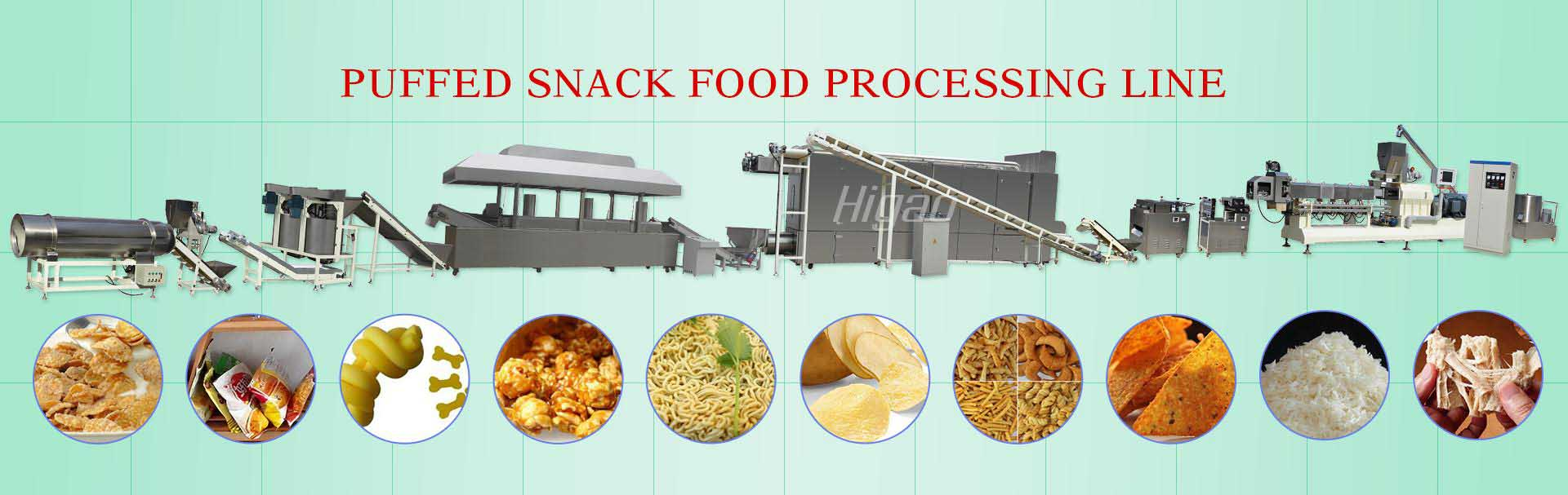 puffed snack food processing line supplier